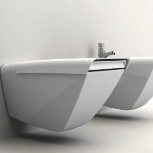 SHIFT אסלה תלויה מעוצבת - יצוק חרס - חברת PALAZZANI תוצרת איטליה
