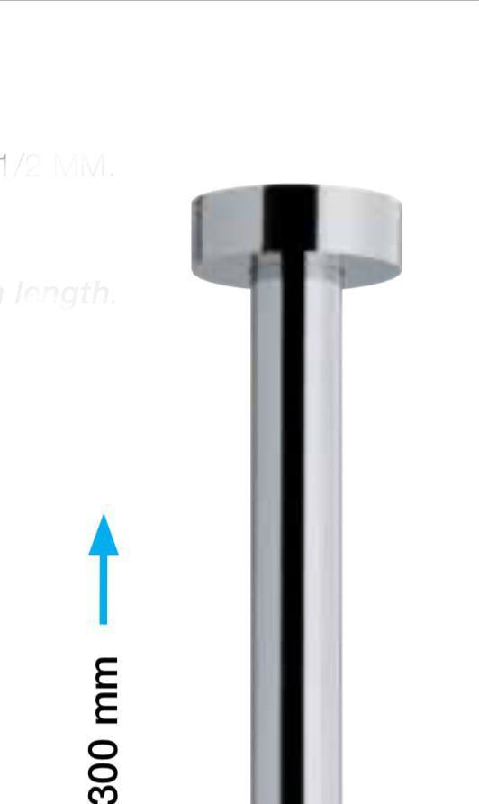 """זרוע מקלחת פליז מהתקרה ø 23 מ""""מ"""