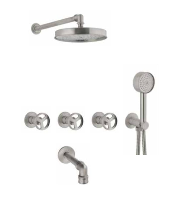 F72 מערכת לאמבטיה בעיצוב תעשייתי-איטליה