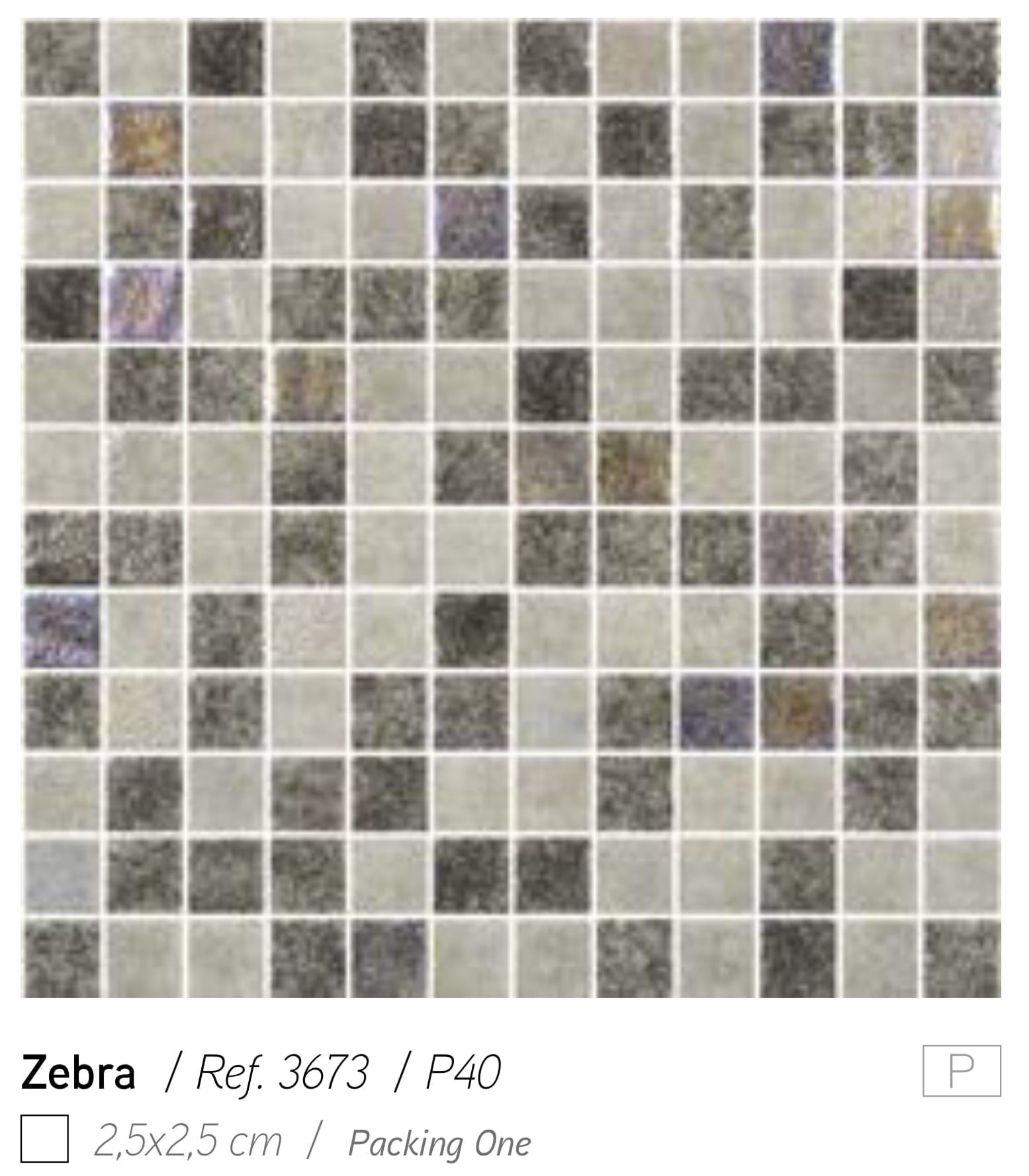 פסיפס זכוכית ZEBRA